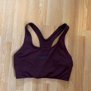 Nike Dri-fit maroon sports bra size medium
